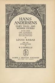 title page for book hans andersens fairy tales and wonder stories title page