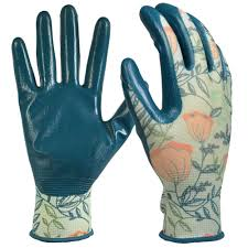 women s medium nitrile coated garden gloves