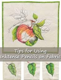 a new method for painting on fabric tips for using inktense blocks quilting daily