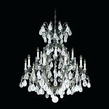 schonbek crystal chandelier light rock