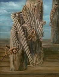 nautical rope 9 x 12 original oil painting by artist billye woodford