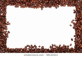 coffee beans border. Beautiful Beans Frame Made From Roasted Coffee Beans Over White Background With Room For  Text Or Image Throughout Coffee Beans Border O