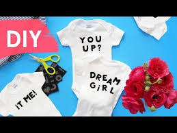 diy personalized onesies homemade baby shower gift