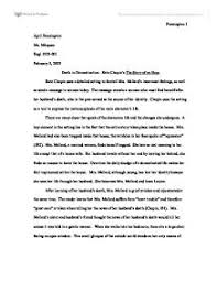 death in domestication kate chopin s the story of an hour page 1 zoom in