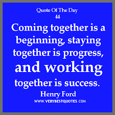 Teamwork Quote Of The Day 02/03/2013: working together ...