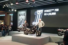 new car launches at auto expo 2014HarleyDavidson India launches Street 750 at Auto Expo 2014  Livemint