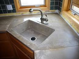 image of concrete kitchen counter and sink