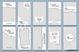 Paper Frames Templates Torn Paper Stories Template Paper Scraps Social Media Story