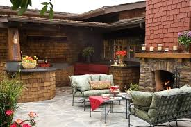 craftsman outdoor kitchen and fireplace traditional patio west center road omaha ne