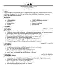 Samples Of Agriculture Resumes Best Sample Resumes Best Farmer Resume Example Livecareer