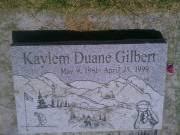 Kaylem Duane Gilbert 1981 - 1999 BillionGraves Record
