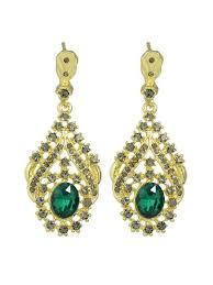 home jewelry earrings green rhinestone green crystal chandelier earrings