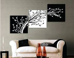 black and white wall painting original oil ink 3 panels black white trees canvas flower painting black and white wall  on black white wall art deco with black and white wall painting framed 5 panels large black and white