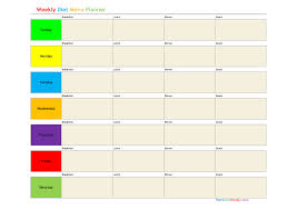Best Photos Of Diet Meal Planner Template Daily Meal Planner
