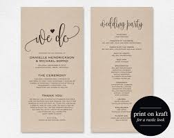 Wedding Program Wedding Program Template Wedding Program Printable We Do 1