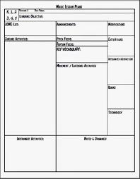 Music Class Lesson Plan Template Akhia Info