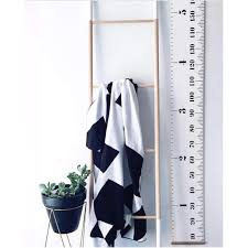 Hang The Charts On The Wall Us 2 94 36 Off Nordic Creative Black White Kids Room Wall Hanging Decoration Growth Chart Wood Canvas Hang Height Charts Photography Props In Wind