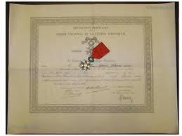 ww order legion honor knight diploma military  image is loading ww1 order legion honor 1870 knight diploma