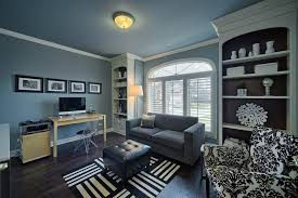 blue home office. Blue Home Office Wall. Wall White Trim Contemporary With Gray Loveseat Transitional