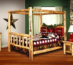 Amazon.com: Rustic Red Cedar Log Bed- KING SIZE - Canopy Bed - Amish ...