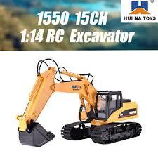 <b>HUINA 1550</b> 1:14 <b>RC Crawler</b> Car 15CH 2.4G RC Metal Excavator ...