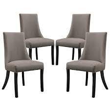 set of 4 reverie upholstered dining side chair with wood