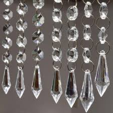 lighting charming crystal garland for chandelier strands decorative michaels led lights willow dollar tree acrylic
