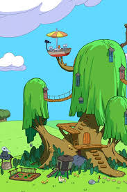 adventure time tree wallpaper