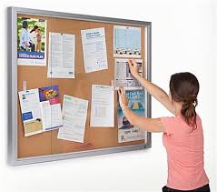 4x3 cork board. Simple Board Glass Enclosed Bulletin Board  With 4x3 Cork O