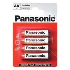 <b>Батарейка Panasonic AA</b> R6 BL4 Zinc Carbon, цена за блистер 4 ...