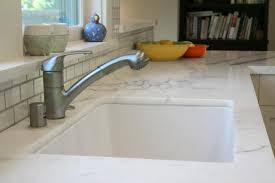 Single Bowl White Undermount Kitchen Sink And Marble Countertop