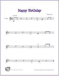 Happy birthday is a great song to learn, and one that everyone can put to use. Happy Birthday Free Beginner Guitar Sheet Music
