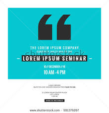 seminar invitation business seminar invitation design template with stock vector