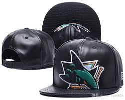 hot men s san jose sharks hockey snapback hats logo embroidered sports adjustable ice hockey caps vintage leather strap back hat army hats custom caps