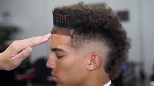 Burst Fade With Design Haircut Tutorial Burst Fade Mohawk Design