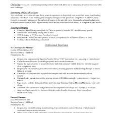 Restaurant Assistant Manager Resume Catering Sales Resume Image