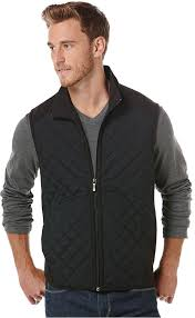 Perry Ellis Black Quilted Vest | Where to buy & how to wear & ... Perry Ellis Black Quilted Vest Adamdwight.com