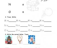 alphabet practice paper practice mno