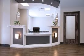 Gold Reception Lighting Dental Office Design by Arminco Inc