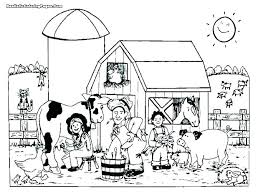 Farm Coloring Page Printable Baby Farm Animals Coloring Pages Farm