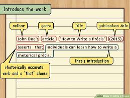 how to write a precis steps pictures wikihow image titled write a precis step 1