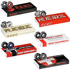 skateboard bearings reds. bones bearings super reds swiss ceramic, ect skateboard / roller derby scooter bearings
