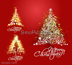Vector Red Christmas Card Christmas Tree Background Design Template