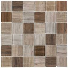 mto0333 modern uniform squares brown glass mosaic tile backsplash kitchen wall