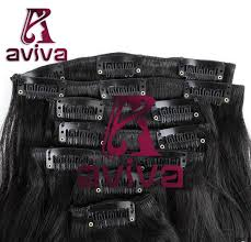 China Brazilian Remy Clip In Human Hair Extensions 100