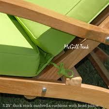 teak steamer lounge chair cushions. teak outdoor patio steamer cushion - sunbrella custom cushions lounge chair