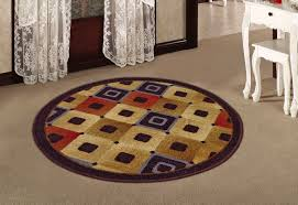 if you are replacing the large round rug in an extremely moving think to choose a braided version braided rugs are very durable and will not fray easily