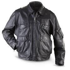 german police surplus leather jacket used double tap to zoom