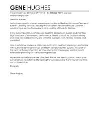 Best Residential House Cleaner Cover Letter Examples Livecareer