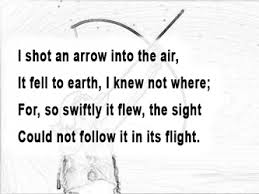 the arrow and the song poem analysis the arrow and the song stanza 1